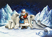 Santa Claus Posters - Peace On Earth  Poster by Lynn Bywaters