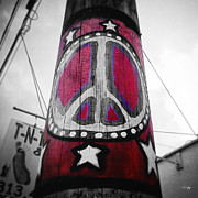 Hippie Posters - Peace Pole Poster by Scott Pellegrin