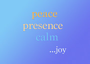 Muted Mixed Media Posters - Peace Presence Calm Joy Poster by CJ Grant
