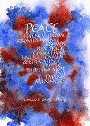 Santana Mixed Media - Peace Santana by Lori Tews