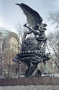 Man-in-the-moon Photo Prints - PEACE SCULPTURE in NEW YORK Print by Daniel Hagerman