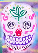 Dead People Paintings - Peace Skull by Tony B Conscious