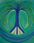 First Star Art Prints - Peace Tree Print by First Star Art