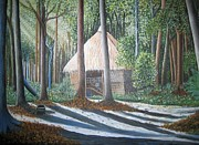 Usha Rai Art - Peaceful abode by Usha Rai