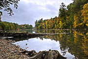 Peaceful Autumn Lake Print by Christina Rollo
