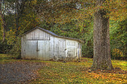 Rhonda McClure - White Barn In Autumn