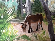 Grazing Horse Originals - Peaceful Cumberland Island by Adrienne Miller