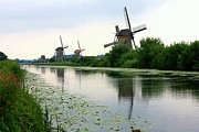 Dutch Landscape Posters - Peaceful Dutch Canal Poster by Carol Groenen
