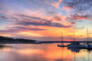 Boats Tapestries Textiles - Peaceful Evening by JC Findley