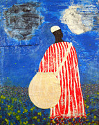 African-american Mixed Media Prints - Peaceful Garden Print by Duwayne Washington