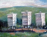 Franklin Farm Painting Prints - Peaceful Homes Print by Rebecca Myers