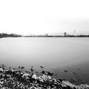 Alster Framed Prints - Peaceful Framed Print by Marc Huebner