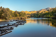 Silk Water Prints - Peaceful River Print by Robert Bales