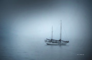 Santa Cruz Sailboat Art - Peaceful Sailboat on a Foggy Morning from the book MY OCEAN by Author and Photographer Laura Wrede