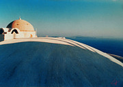 Oceon Posters - Peaceful Santorini Meditation Poster by Colette V Hera  Guggenheim