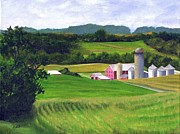 Farm Scenes Originals - Peaceful Valley View by Deborah Butts