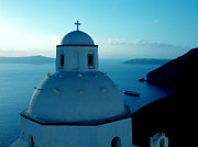 Canvasprint Prints - Peacefull Santorini Greek Island  Print by Colette V Hera  Guggenheim
