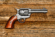Six Shooter Framed Prints - Peacemaker Framed Print by Olivier Le Queinec