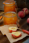Peaches Photo Prints - Peach Jam Print by Cass Peterson
