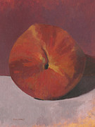 Fruit Paintings - Peach by John Holdway