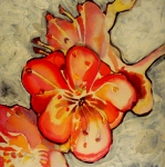 Peach Originals - Peach Tree Flowers by Sandrine Pelissier