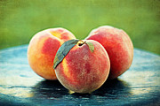 Harvest Art Prints - Peach Trio Print by Darren Fisher