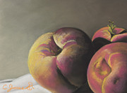 Peach Pastels Prints - Peaches #2 Print by Charles T Jones