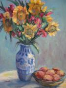 Sharon Franke - Peaches and Sunflowers