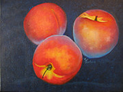Peaches Painting Prints - Peaches in Still Life Print by Collette Bortolin