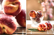 Peaches Photo Prints - Peaches Print by Mariana Mikhaylova