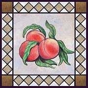 Peaches Digital Art Prints - Peaches One Print by Linda Mears
