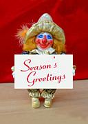 Peaches - Season's Greetings Print by David Wiles