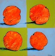Peaches Prints - Peaches Squared Print by Barbara Tibbets
