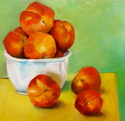 Peaches Painting Prints - Peachy Keen Print by Michelle Abrams