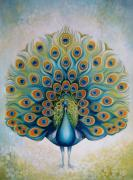 Peacock Metal Prints - Peacock Metal Print by Elena Oleniuc