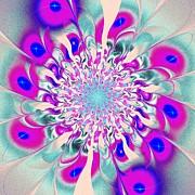 Peacock Flower Print by Anastasiya Malakhova