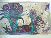 Peacock Goes Classy.. Print by Harshita Chawla