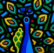 Ireland Paintings - Peacock III by John  Nolan