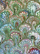 Peacock Shell Pattern Abstract Print by Karon Melillo DeVega
