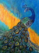 Ella Paintings - Peacock Waltz #3 by Ella Kaye
