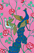Xueling Zou - Peacocks Flying Southeast