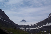 Mountain Tapestries - Textiles Prints - Peak at Glacier National Park Print by Harry Enderle