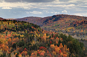 Log Cabin Photos - Peak Autumn colors on the East coast by Pierre Leclerc