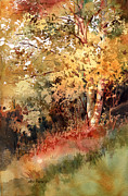 Foliage Paintings - Peak Color by Kris Parins