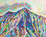 Summit Painting Posters - Peak Experience Poster by David Friedman