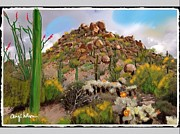 Scottsdale Mixed Media - Peak next to Pinnacle Peak by Craig Nelson