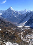 Mt Everest Base Camp Prints - Peaks and Valleys Print by Tim Hester