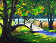 Abbot Paintings - Peaks of Otter Bridge by Rachel Lawson
