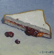 Sandwich Paintings - Peanut Butter and Jelly Sandwich by Jennifer Boswell