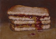 Sandwich Paintings - Peanut Butter And Jelly Sandwich by William McLane